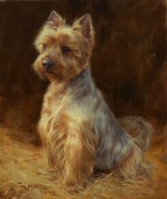 Painting of a Yorkshire dog