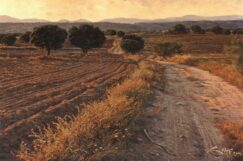 Holm oaks painting