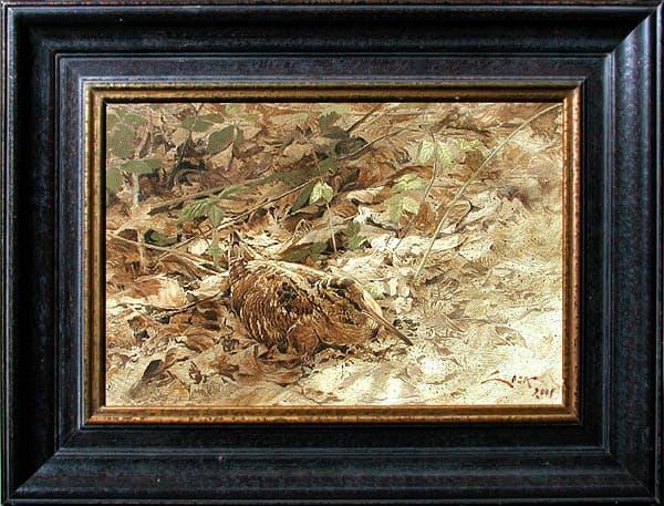 Woodcock painting
