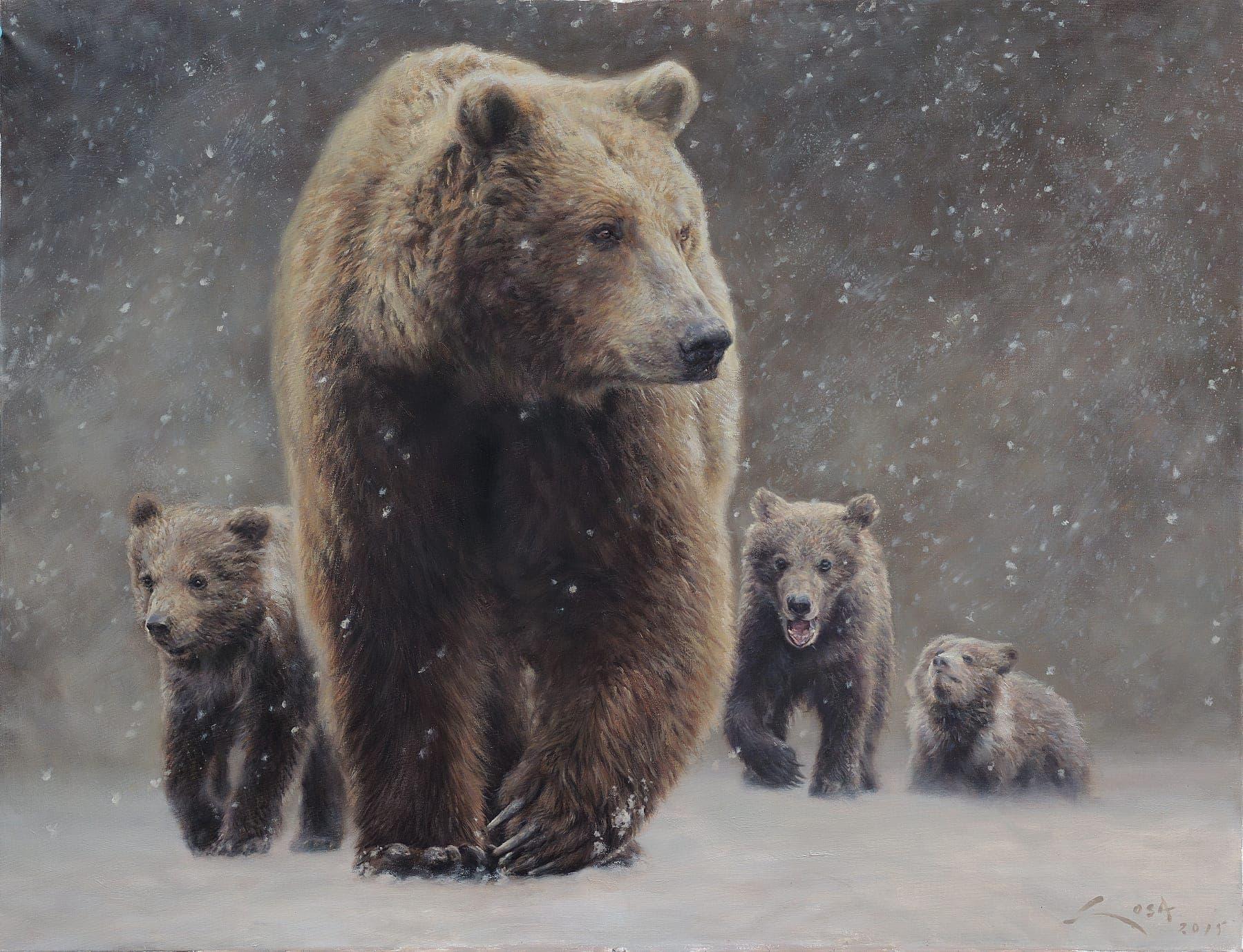 La Ventisca - cuadros de Oso Pardo ( Ursus arctos ) y crías - Sosa ...