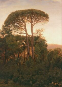 Pine forest painting