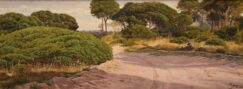 Stone pine forest painting