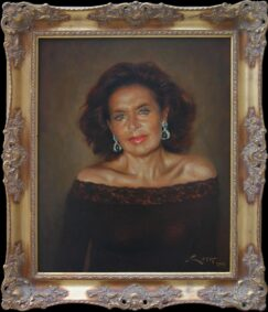 Human portrait in oil