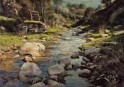 Sotillos river painting