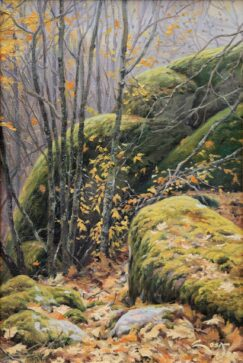 Young maples trees painting