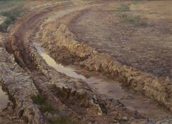 Tracks in the mud oil painting