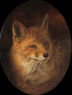 Painting of a Red Fox